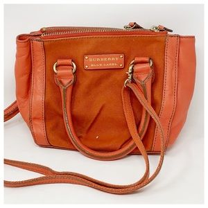 Authentic Burberry Red Canvas Crossbody Bag